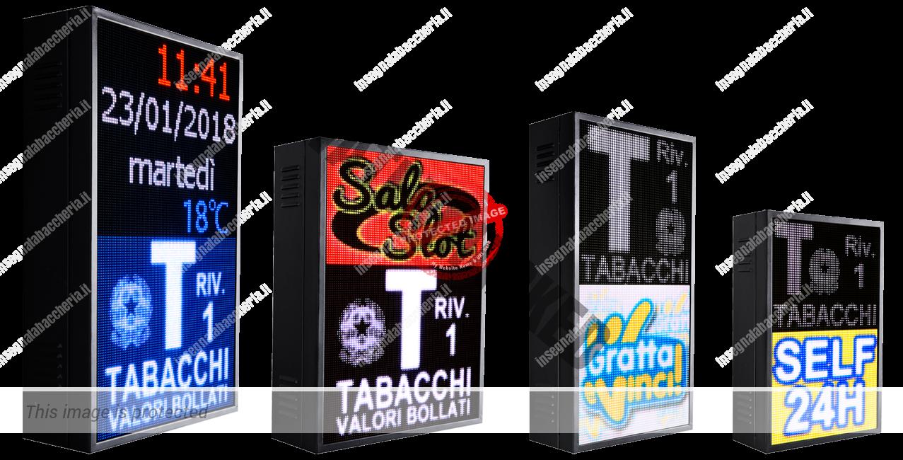 Versioni Bplus insegne tabaccheria